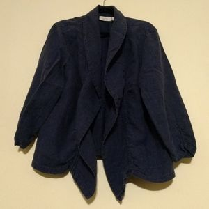 Chico's Women's Blue/Navy Jacket/Blazer Size 3